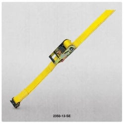 "2"" x12' Cargo Strap w/ Spring E Fittings and Ratchet Handle"