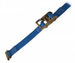 "2"" x 20' Cargo Strap w/ Spring E Fittings and Ratchet Handle"