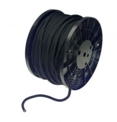"3/8"" x 300' Shock Cord - Continuous - Black"