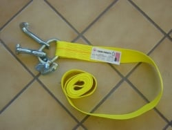 Auto tie-down strap with RTJ Frame Hooks
