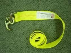8ft Auto Tie-Down Strap with R Hook- Choice of color