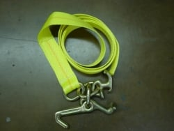 2in X 8ft Auto Tie Down Strap w forged J T R Frame Hooks
