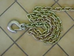 8 foot safety chain with safety latch clevis slip hook
