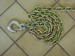 2 PACK 8 foot safety chain with snap hook
