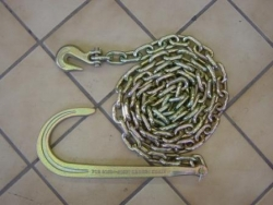 10 ft tow chain with 15 inch J hook and clevis grab