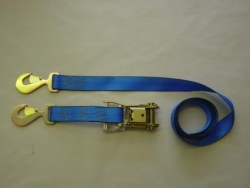 "2"" X 10' TIE-DOWN STRAP AND RATCHET WITH FLAT SNAP HOOKS"