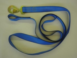 "2"" X 15' TIE-DOWN STRAP WITH FLAT SNAP HOOK & 4"" Bolt Loop End"