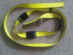 12' Replacement Car Hauler Strap. No hooks, Reuse your Swivel-J Hooks