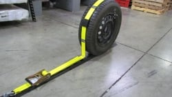 Vertical E track Wheel Strap. 10 Ft w Flat Top Idler