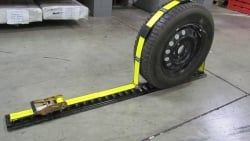 Horizontal E-Track Wheel Strap 10ft w NEW Low Profile Roller Idler
