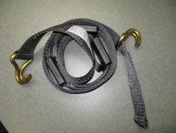 Strap Truck strap w Wirehooks and bolt loop