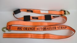 Big Orange 12ft Swivel J Cottrell Style Wheel Strap ver 3 (Box of 15)
