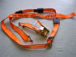 Big Orange Double J Wire Hook Ratchet Wheel Strap (Box of 8)