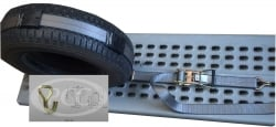 Car Hauler Wheel Strap 10 ft (w 5k wire hooks)- GREY