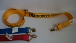 15 FT Replacement Diamond Weave WH Wheel strap- Options