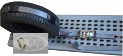Car Hauler Wheel Strap 10 ft (w 5k wire hooks)- GREY (box of 10)