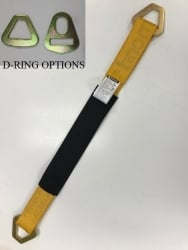 "Diamond Weave Axle Strap-24""- Choice of Strap Color and D-Rings"