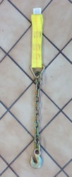 18 inch chain and grab hook strap idler with 2.5 inch sewn loop