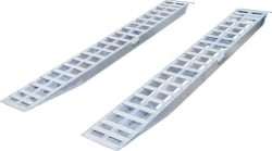 "10' Loading Ramps (Pair of 120"" x16"" x 4.25"") w Flat Top and Knife foot"