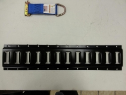 10 ft black powder-coated horizontal e-track includes cut fee
