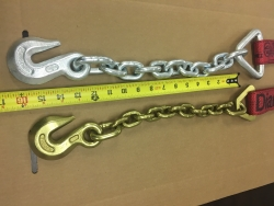 "2"" Wide Diamond Weave Ratchet Strap w ChainGrab Ends. (length options)"