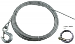 "Winch Cable 3/8"" (50 to 150ft Length, Eye Hook or Swivel Hook)"