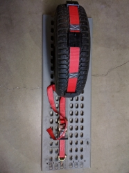 10 ft Ratchet Wheel Strap with Swivel J hooks -RED