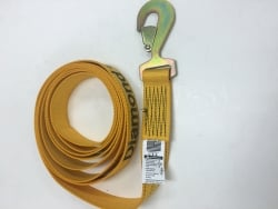 Flat or Twisted Snap Hook Strap (Diamond Weave, choice of length)