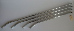 "10 Pack of 34"" Chrome Tie-Down Bars for Car Haulers"
