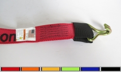 Wire Hook (reinforced eye) Diamond Weave Wheel strap- Options- Colors- Lengths