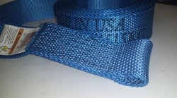 12 FT Naked Diamond Weave Wheel strap -BLUE