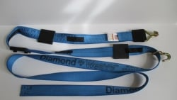 16 FT Diamond Weave REWH Wheel Strap-Complete-BLUE