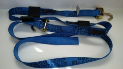 16 FT Diamond Weave Swivel-J Wheel Strap-Complete-BLUE