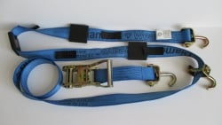 10 ft Diamond Weave ratchet wheel strap with swivel J hooks -BLUE