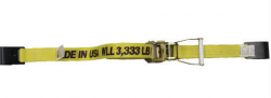 "2""x30' Cargo Strap Ratchet Assembly w/ Flat Hooks- Color option"