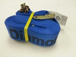 "2"" x 20' Blue DIAMOND WEAVE Cargo E-Track Ratchet Strap with Spring E-Fittings"