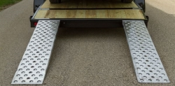 "6 foot low profile aluminum car loading 5K ramp (Pair of 72"" x15"" x 2"") INCLUDES SHIPPING"