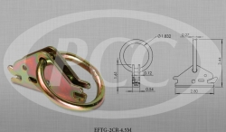 "Standard Duty E / A Spring Fitting w/ 2"" Circle Ring - 4500 lbs Break Strength"