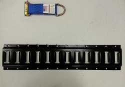 7.5 ft black powder-coated horizontal e-track