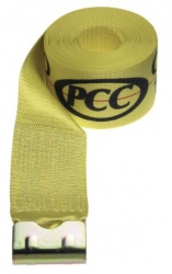 "4"" X 27' Winch Strap w/ Flat Hook-Yellow"