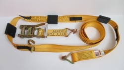 12 ft Diamond Weave ratchet wheel strap with double J wire hooks -Options