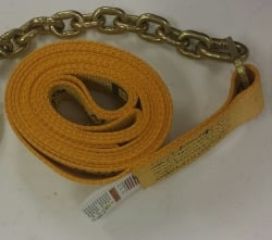 "2"" Wide Diamond Weave Ratchet Strap w Chain End. (length options)"