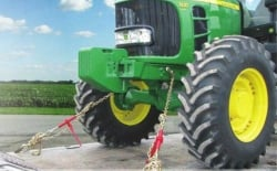 3/8 G70 x 20 ft Eye Grab Hook each end Welded Chain Assembly