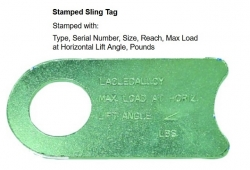 Tag Sling ID No Grade Laclede Embossed IMP stamped Zinz EG