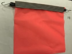 Safety Flag-With Bungee Cord and Hooks- Made in TX