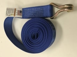 "2"" x 30' replacement winch strap with double J wire hook Diamond Weave"