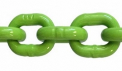 "LacledAlloy Grade 120 High Viz Green Chain 100' Half Drum 1/2"" link diameter"