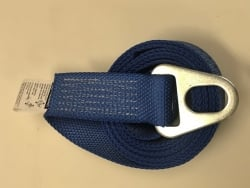 "2"" x 8' Blue DIAMOND WEAVE Chevron Wheel Lift Strap with Oval Hole"
