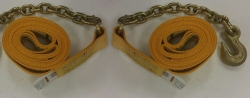 "30 Ft (Optional 40-50ft) Cargo Strap w 18"" Chain End"