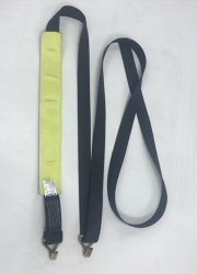 Black Diamond Weave 14 ft Low Profile Wheel Strap with Wire Hooks